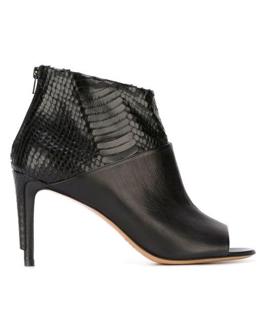 Maison Margiela | Black 100mm Wrap Zip Leather Ankle Boots | Lyst