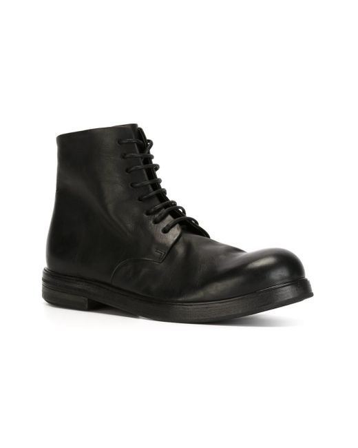 Marsèll Ankle Tie Boots in Black for Men - Save 53% | Lyst