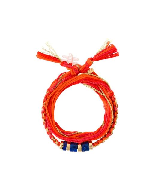 Aurelie Bidermann | Orange Cotton Bracelet | Lyst