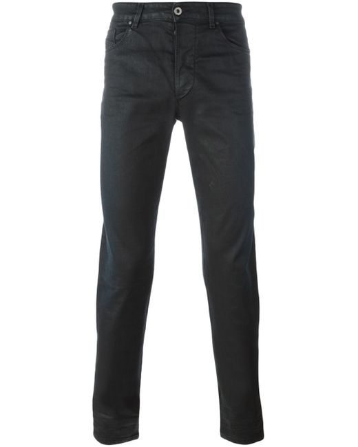 diesel black gold coated jeans in black for men save 22 lyst. Black Bedroom Furniture Sets. Home Design Ideas