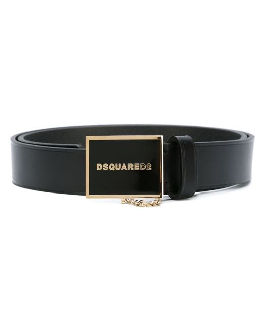 DSquared² | Black Logo Buckle Belt for Men | Lyst