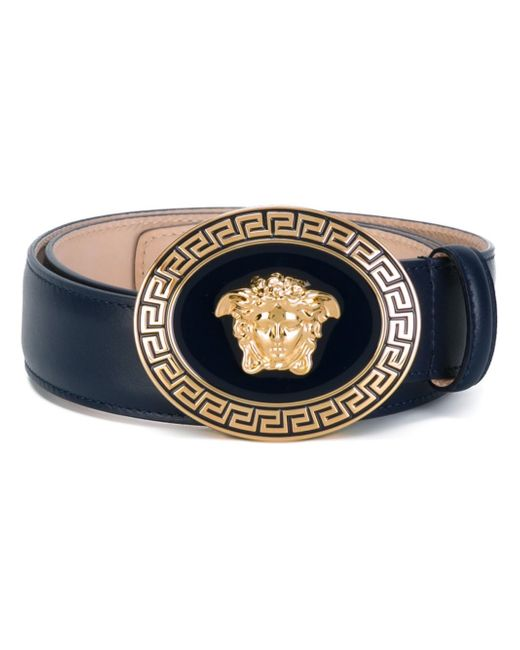 versace enamelled medusa buckle belt in multicolor for men. Black Bedroom Furniture Sets. Home Design Ideas