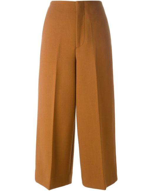 Marni | - Stretch-crepe Wide-leg Pants - Black | Lyst