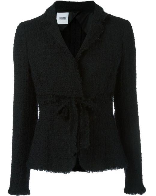 Moschino | Black Wool-blend Bouclé Jacket | Lyst