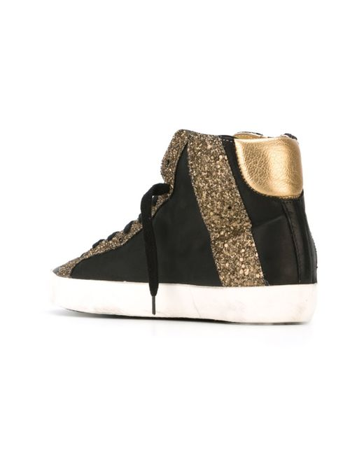 philippe model glitter panelled sneakers in multicolor black lyst. Black Bedroom Furniture Sets. Home Design Ideas
