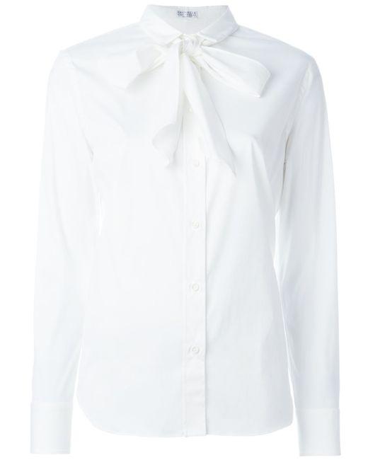 Brunello Cucinelli Bow Tie Collar Shirt In Multicolor