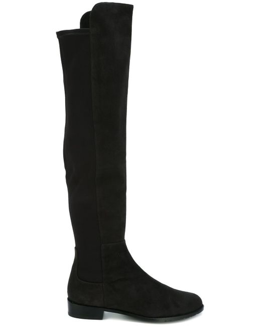 Stuart Weitzman   Gray Schizo Suede Knee-High Boots   Lyst