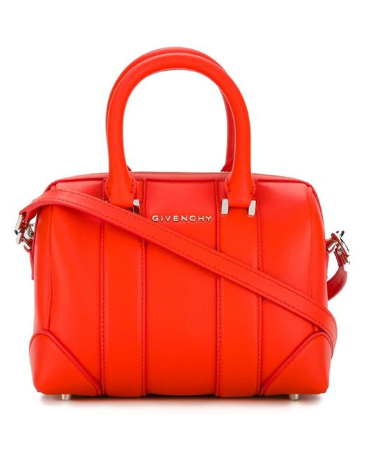 Givenchy | Orange Micro Lucrezia Leather Tote | Lyst