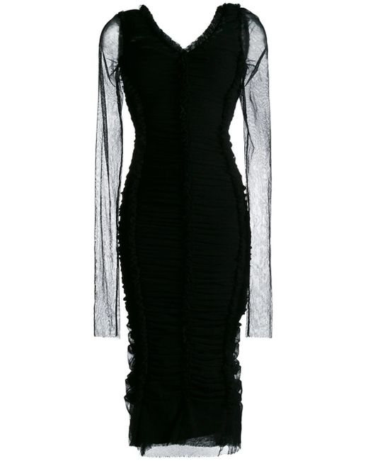 Dolce & Gabbana | Black Long Dress | Lyst