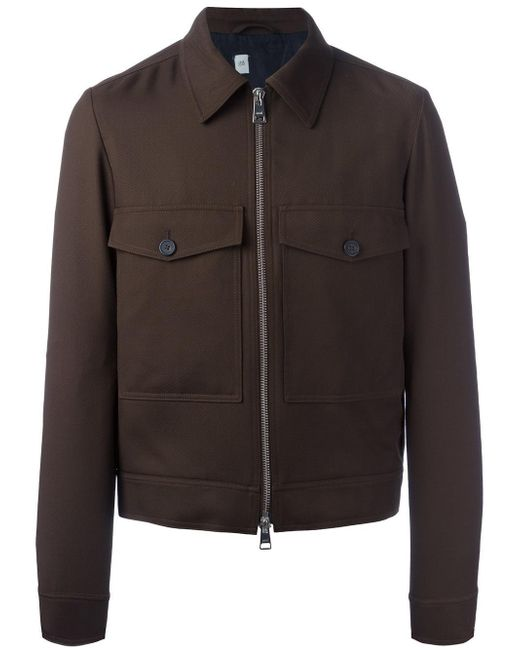 AMI | Brown Zipped Jacket for Men | Lyst