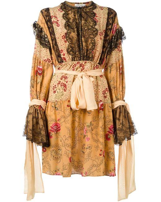 Faith Connexion | Orange Ruffle Detail Dress | Lyst