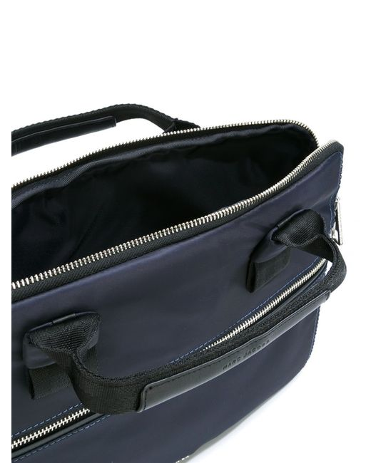 marc jacobs zipped laptop bag in blue lyst. Black Bedroom Furniture Sets. Home Design Ideas