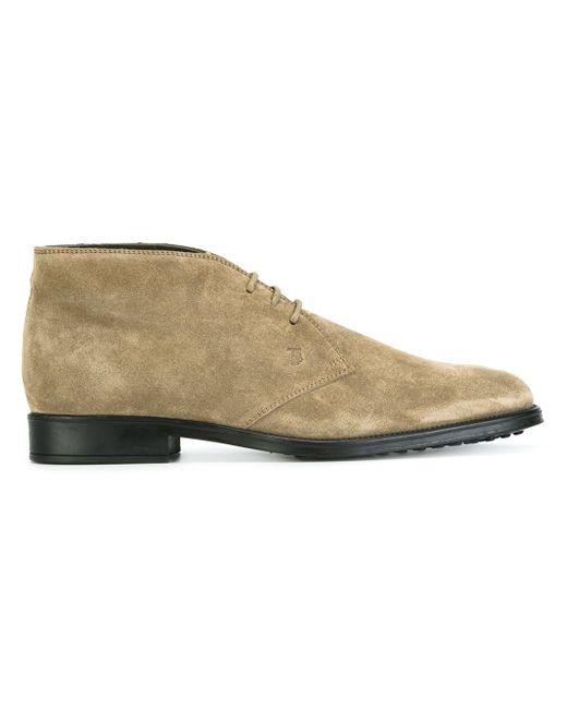 tod 39 s desert boots in gray for men lyst. Black Bedroom Furniture Sets. Home Design Ideas