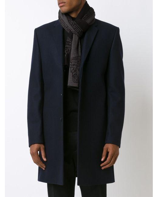 versace medusa greca scarf in black for men lyst. Black Bedroom Furniture Sets. Home Design Ideas