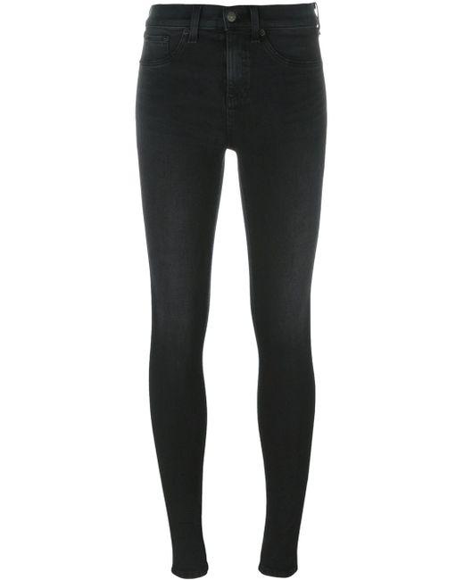 Rag & Bone   Black Stonewashed Skinny Jeans   Lyst