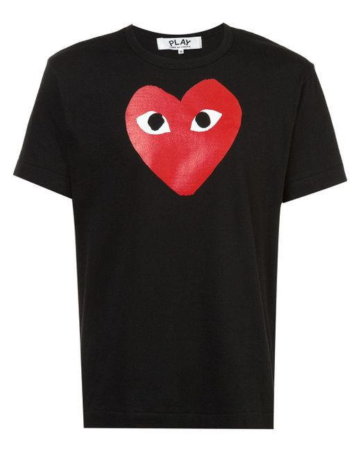 Play Comme des Garçons   Black Logo Print T-shirt for Men   Lyst