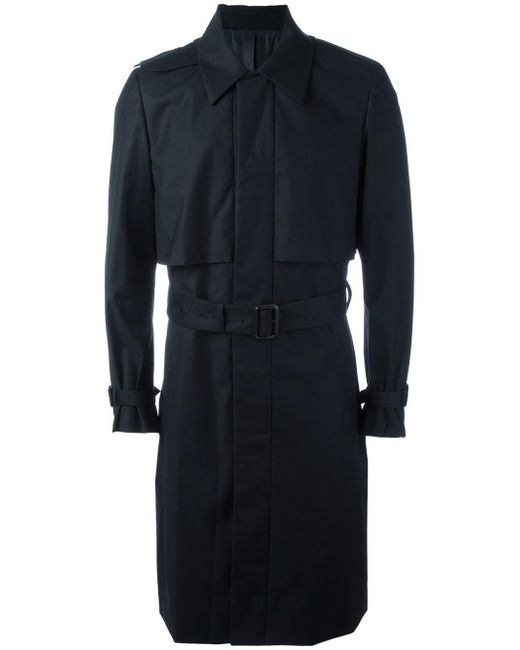 Juun.J | Blue Pocketed Belted Trench Coat for Men | Lyst