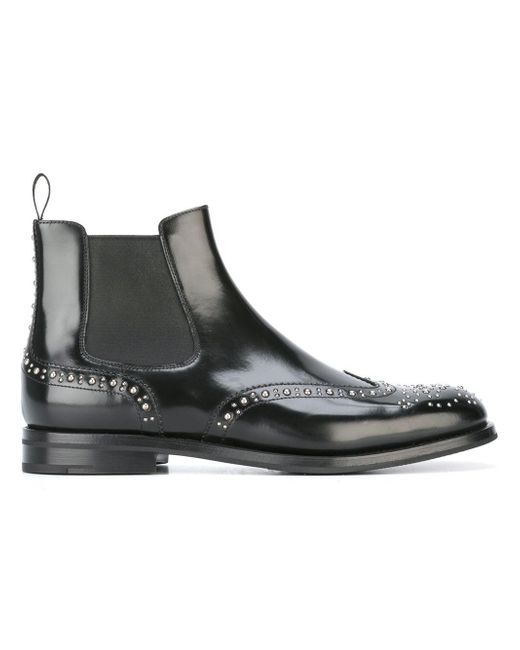 Church's | Black Ketsby Stud-embellished Leather Ankle Boots | Lyst