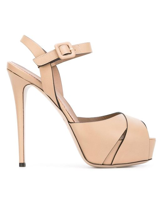 Le Silla | Natural Platform Sandals | Lyst