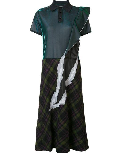 Maison Margiela | Green - Fused Shirt Dress - Women - Nylon/polyester/wool - 42 | Lyst