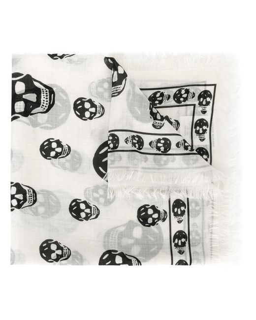 Alexander McQueen | Natural Skull Scarf for Men | Lyst