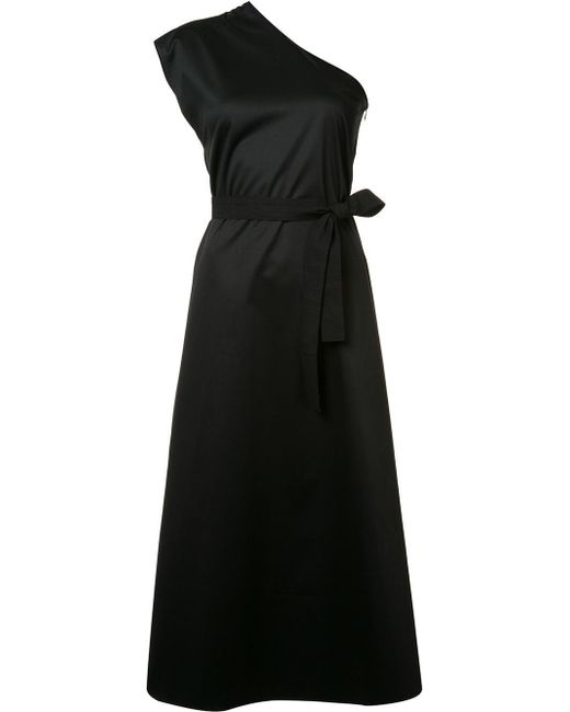 TOME | Black Single Shoulder Belted Dress | Lyst