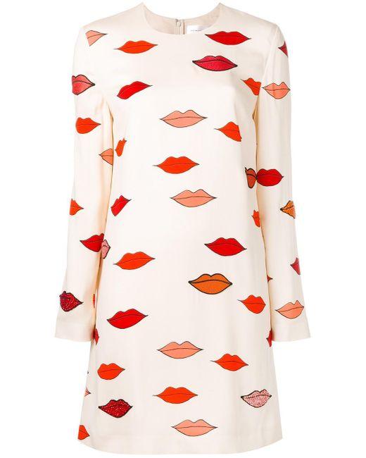 Victoria, Victoria Beckham   Scattered Lips Patch Applique Dress   Lyst