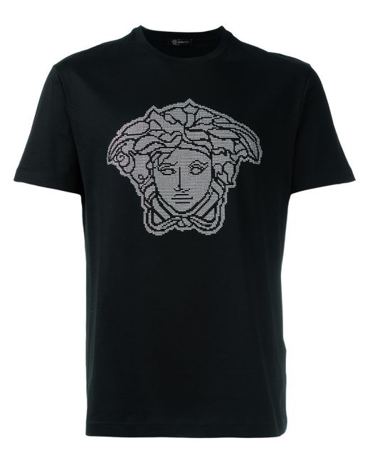 Versace Microstudded Medusa Head T-shirt in Black for Men ...