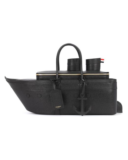 Thom Browne | Black Boat-shaped Tote Bag for Men | Lyst