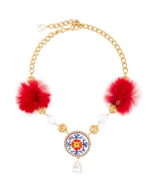 Dolce & Gabbana | Metallic Decorative Necklace | Lyst