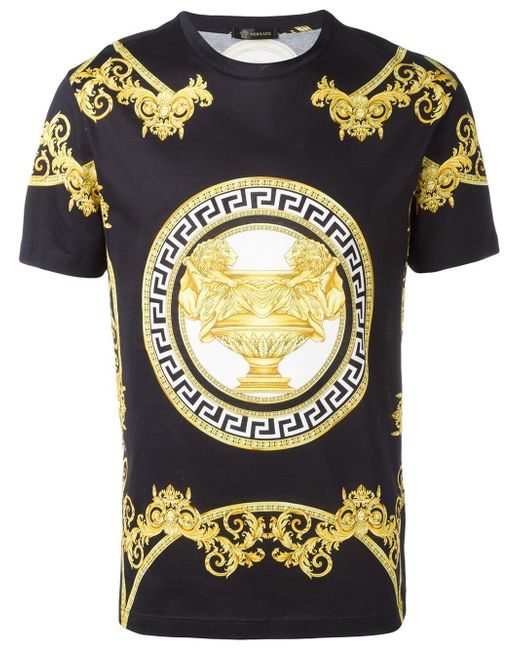 versace la coupe des dieux t shirt in black for men lyst. Black Bedroom Furniture Sets. Home Design Ideas