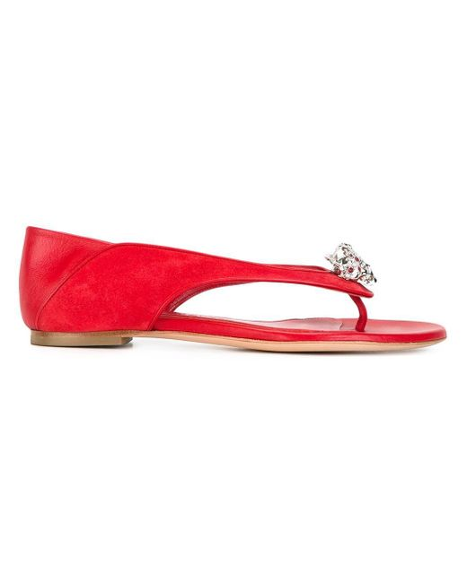 Alexander McQueen | Red King And Queen Skull Sandals | Lyst