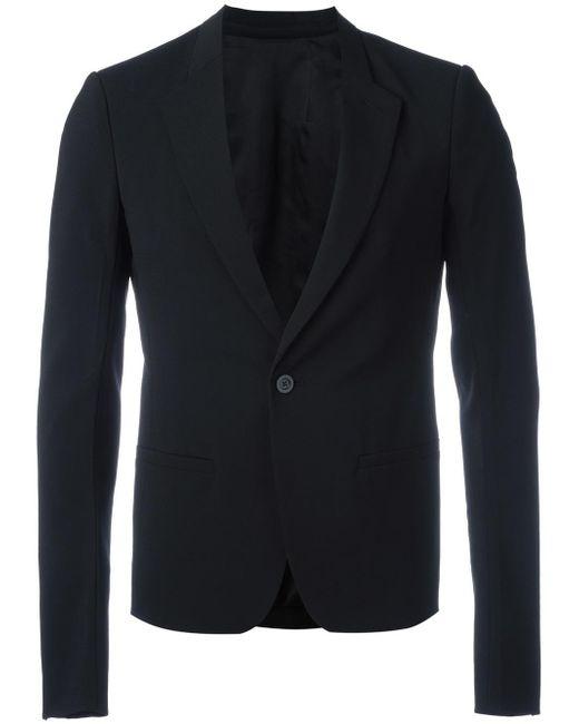 Rick Owens | Black One Button Blazer for Men | Lyst