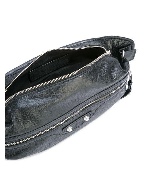 Balenciaga Double Zips Bum Bag In Black For Men Lyst