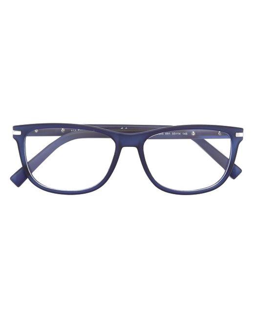 Ermenegildo Zegna | Blue Square Frame Glasses for Men | Lyst
