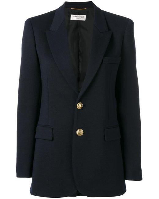 Saint Laurent | Blue Classic Single Breasted Jacket | Lyst