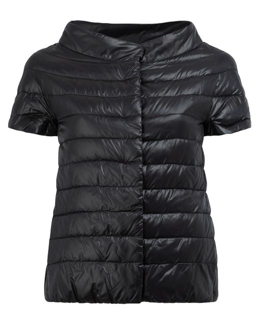 Herno   Black Glossy Quilted Jacket   Lyst