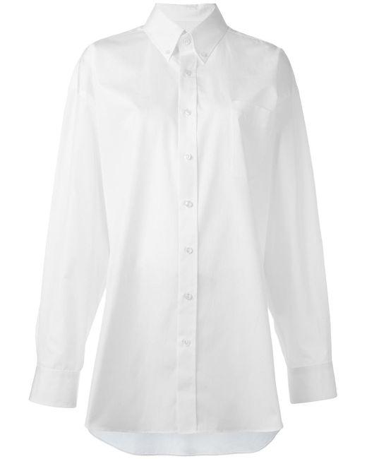 Maison Margiela   White Oversize Long Sleeve Shirt   Lyst