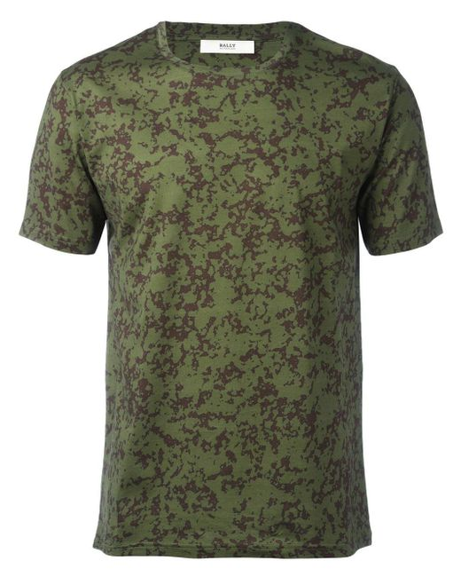 Bally Printed T Shirt In Green For Men Lyst