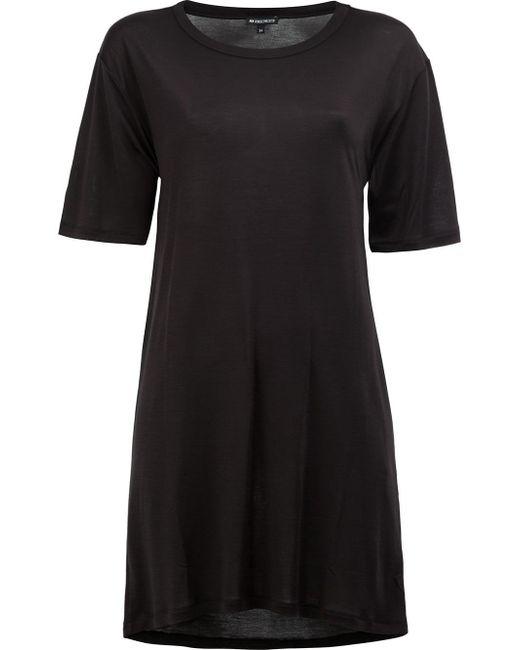 Ann Demeulemeester | Black Open Back Oversized T-shirt | Lyst