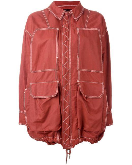 Stella McCartney | Multicolor Oversize Zipped Jacket | Lyst
