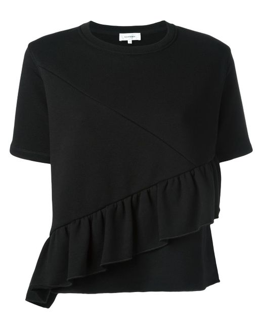 carven lila t shirt in black lyst. Black Bedroom Furniture Sets. Home Design Ideas