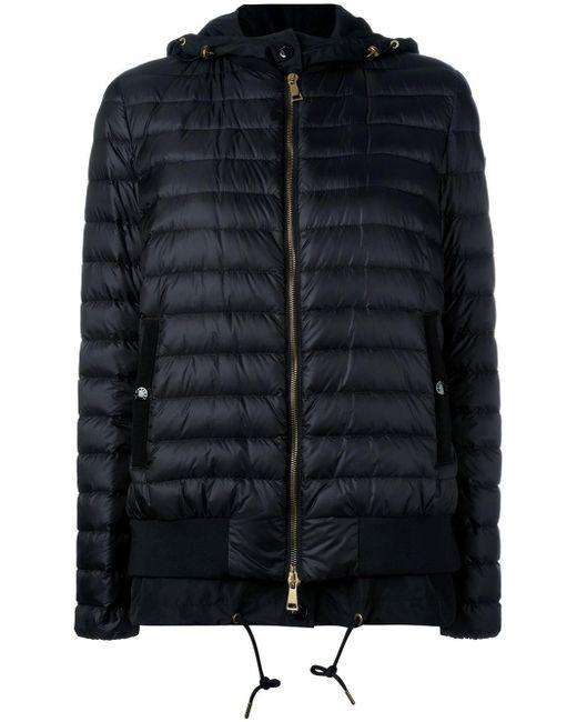 Moncler | Black Layered Hem Padded Jacket | Lyst