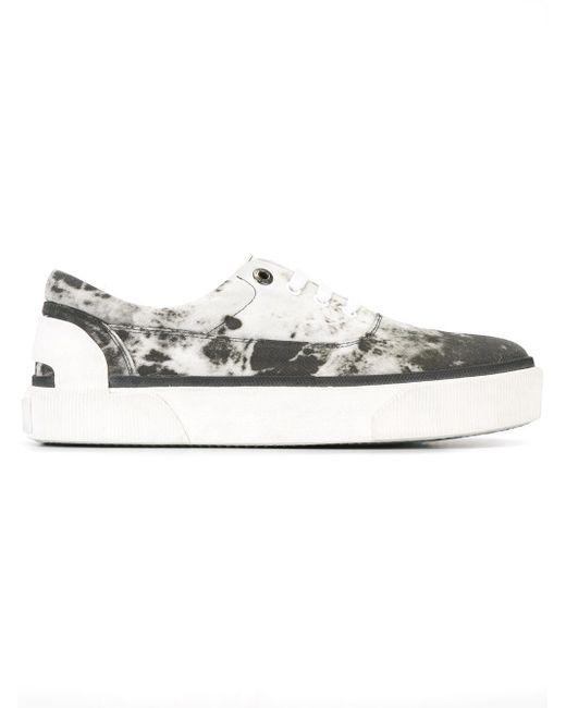 Lanvin | Gray Vulcanised Smoke Print Sneakers for Men | Lyst