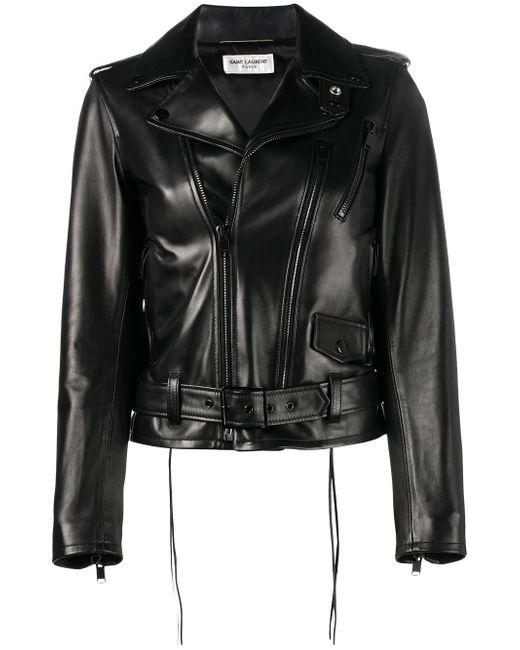Saint Laurent | Black L17 Motorcycle Jacket | Lyst