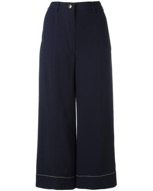 Sonia Rykiel   Blue Cady Cropped Pants   Lyst