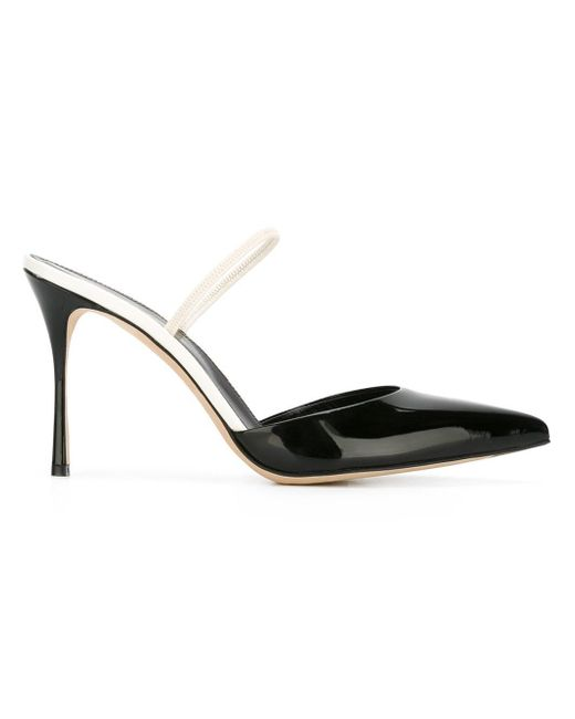 Sergio Rossi   Black Pointed Toe Pumps   Lyst