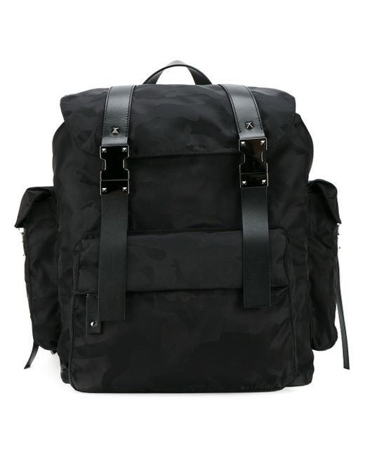 Valentino   Black Garavani Rockstud Backpack for Men   Lyst