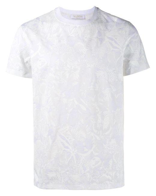 Valentino | White Printed T-shirt for Men | Lyst