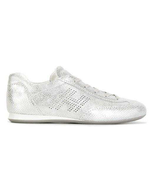 Hogan | Metallic Olimpia H Perforated Sneakers | Lyst